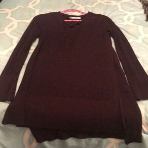 Maurice's M deep Maroon long sweater